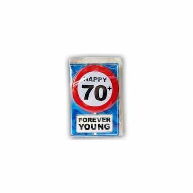 Happy birthday leeftijd kaart 70 jaar