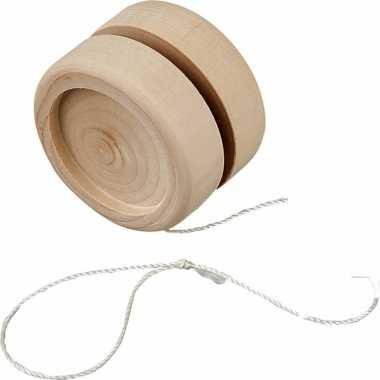 Houten jojo zelf inkleurbaar 5 cm