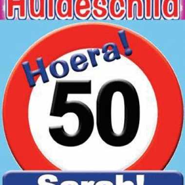 Huldeschilden sarah 50 jaar