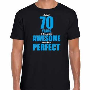 It took 70 years to become this awesome verjaardag cadeau t-shirt zwart voor heren