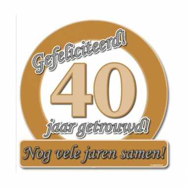 Jubileum borden 40 jaar getrouwd