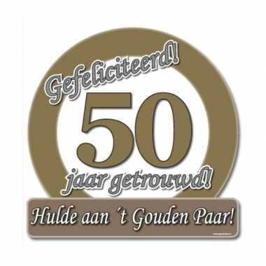 Jubileum borden 50 jaar getrouwd
