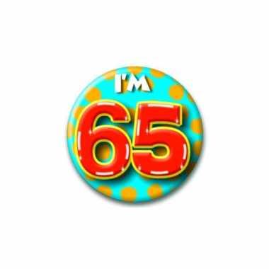 Leeftijd buttons 65 jaar