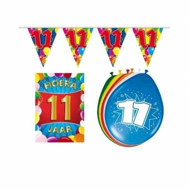 Leeftijd feestartikelen 11 jaar voordeel pakket