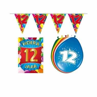 Leeftijd feestartikelen 12 jaar voordeel pakket