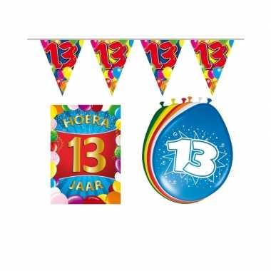 Leeftijd feestartikelen 13 jaar voordeel pakket