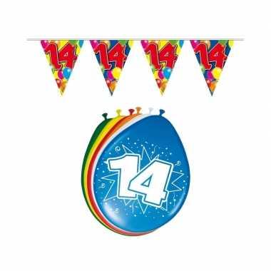 Leeftijd feestartikelen 14 jaar setje