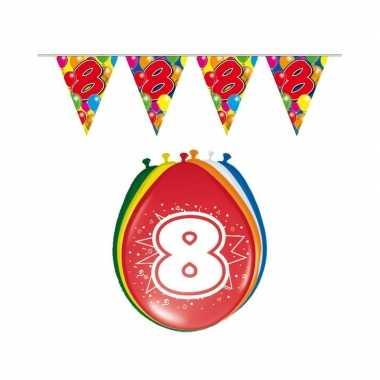 Leeftijd feestartikelen 8 jaar setje