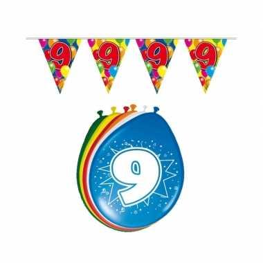 Leeftijd feestartikelen 9 jaar setje