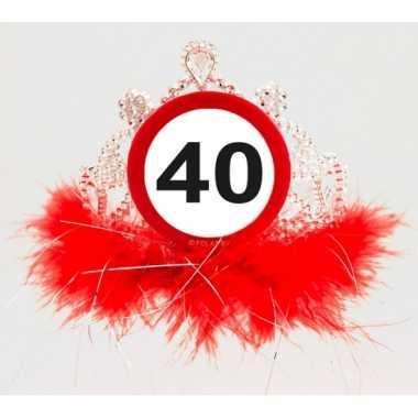 thema 40 jaar Leeftijd thema 40 jaar diadeem | Verjaardag versiering.nl thema 40 jaar