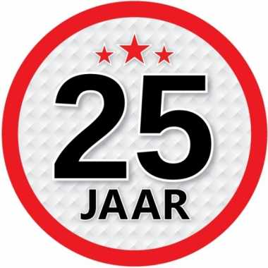 leeftijd versiering sticker 25 jaar   verjaardag-versiering.nl