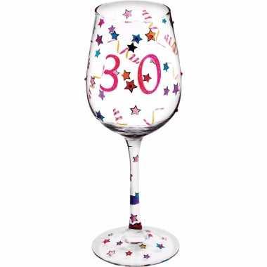 Leeftijd wijnglas 30 jaar 22 cm