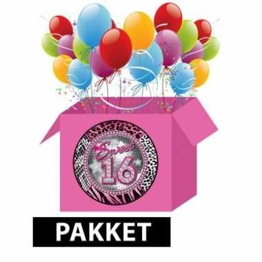 Leeftijdsartikelen 16e verjaardag feestpakket