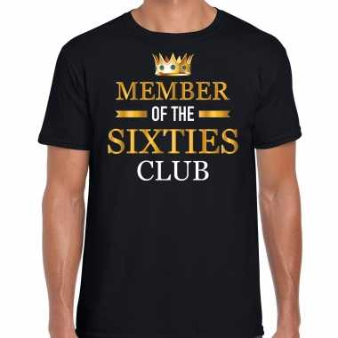 Member of the sixties club verjaardag cadeau t-shirt 60 jaar zwart voor heren