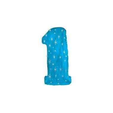 Nummer ballonnen 1 blauw