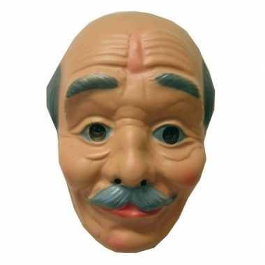 Opa masker kaal met snor
