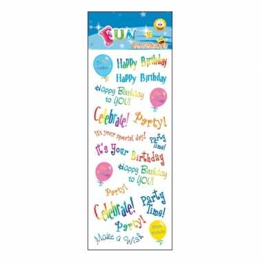 Party birthday stickervellen