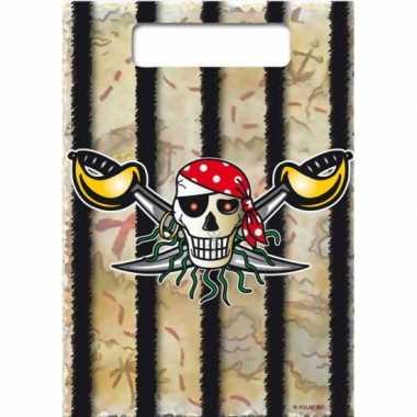 Piraten verjaardag kado zakjes 16x