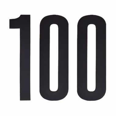 Plakcijfers 100 zwart 10 cm