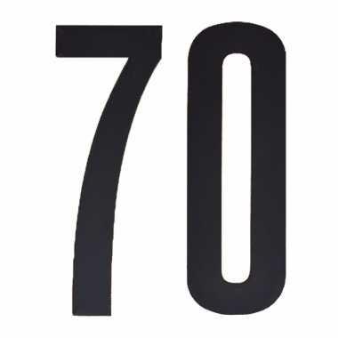 Plakcijfers 70 zwart 10 cm
