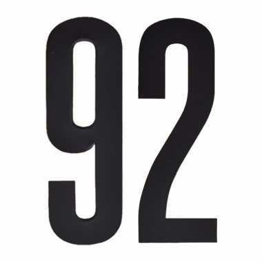 Plakcijfers 92 zwart 10 cm