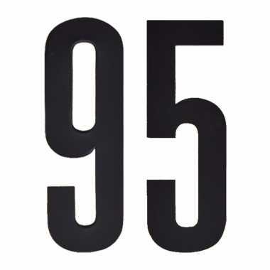 Plakcijfers 95 zwart 10 cm