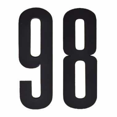 Plakcijfers 98 zwart 10 cm