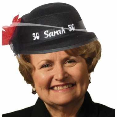 Sarah 50 jaar hoedjes