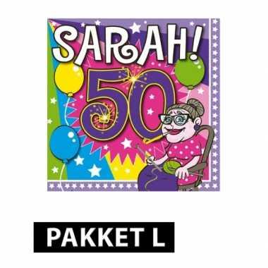 Vaak Sarah 50 jaar pakket large | Verjaardag-versiering.nl #XZ75