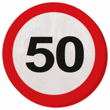 Servet 50 jaar verkeersbord