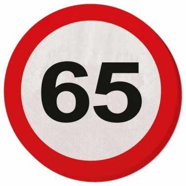 Servet 65 jaar verkeersbord