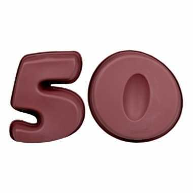 Siliconen bakvormen cijfer 50