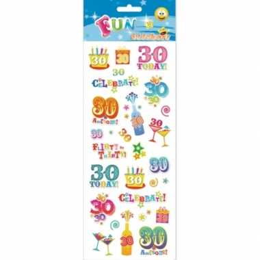 Stickers 30-jarige