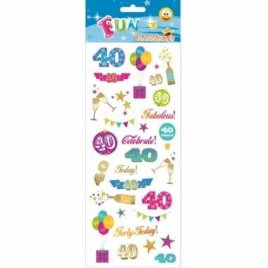 Stickers 40-jarige