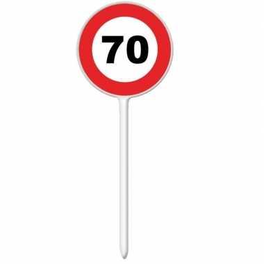 Stopbord cocktailsticks 70 jaar