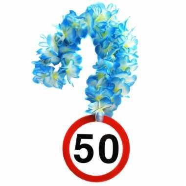 Verjaardag 50 jaar bloemenslinger