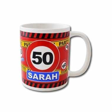 Verjaardag 50 jaar sarah mok / beker 250 ml