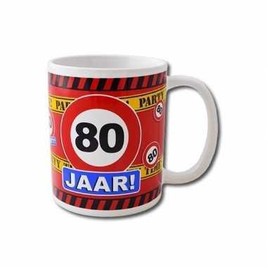 Verjaardag 80 jaar mok / beker 250 ml