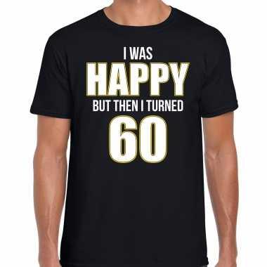 Verjaardag cadeau t-shirt 60 jaar - happy 60 zwart voor heren