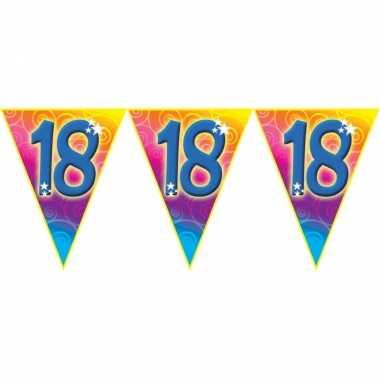 Verjaardag thema 18 jaar geworden feest vlaggenlijn van 5 meter