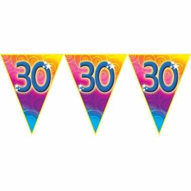 Verjaardag thema 30 jaar geworden feest vlaggenlijn van 5 meter