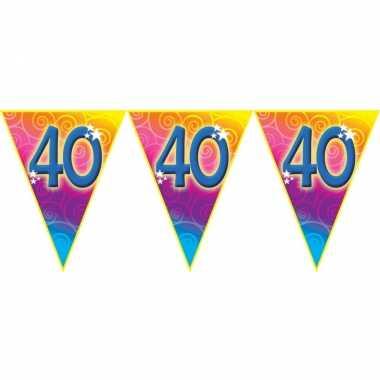 Verjaardag thema 40 jaar geworden feest vlaggenlijn van 5 meter