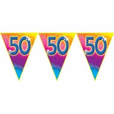Verjaardag thema 50 jaar geworden feest vlaggenlijn van 5 meter