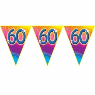 Verjaardag thema 60 jaar geworden feest vlaggenlijn van 5 meter