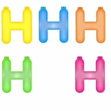 Verjaardags letters opblaasbaar h