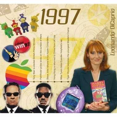 Verjaardagskaart 20 jaar met muziek uit 1997