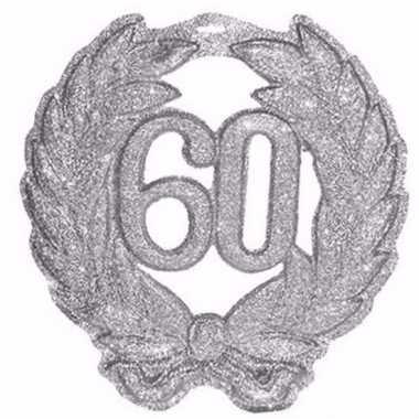 Zilveren jubileum krans 60 jaar met glitters