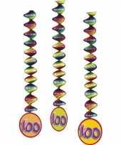 100 jaar decoratie spiralen 6x