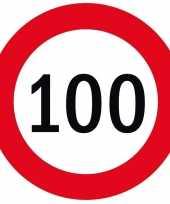 100x bierviltjes 100 jaar thema stopborden
