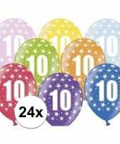 10e verjaardag ballonnen met sterretjes 24x